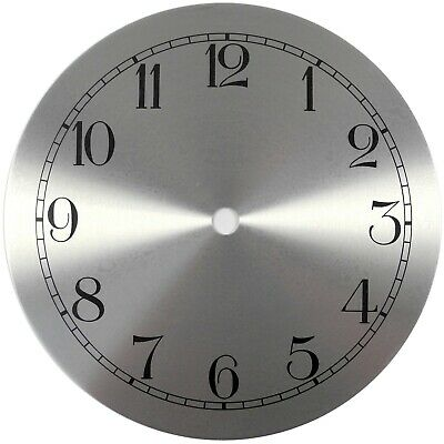 Spun Silver Replacement Clock Dial 6.5 inches 165mm Arabic Figures Clocks- CD462