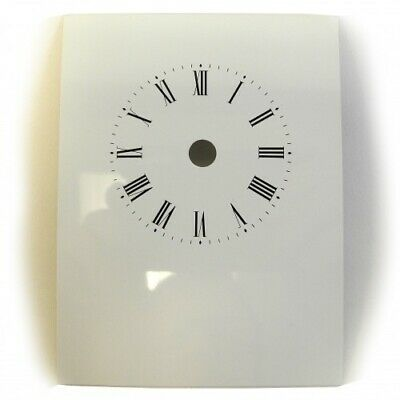 Replacement White Carriage Clock Dial Roman Numerals Clock 82 x 108mm - CD63