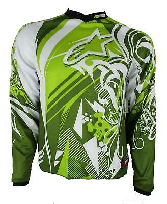 Alpinestars YOUTH Charger Jersey Grn Motocross Mx Enduro Quad Off Road