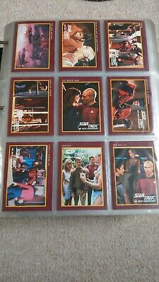 Star Trek Trading Cards by Impel - Complete Set of 155 plus H2+4 Holocards- 1991