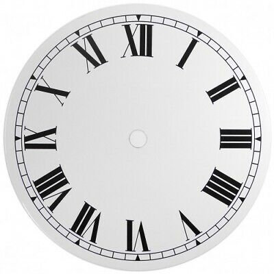 NEW White Replacement Clock Dial 6 inches 152mm Roman Numerals Clocks - CD46