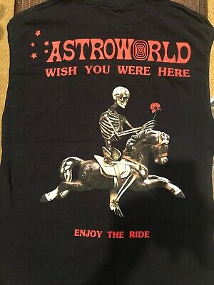 94d1f74e4264 Travis Scott Astroworld Merch AUTHENTIC Sz. L Wish You Were Here Enjoy The  Ride