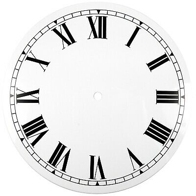 NEW White Replacement Clock Dial 9 inches 229mm Roman Numerals Clocks - CD49