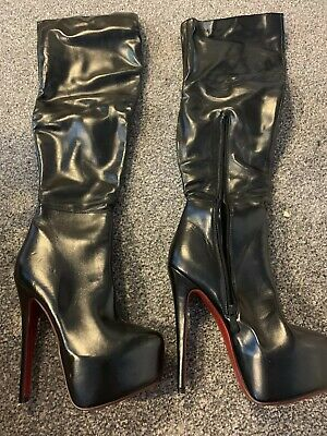 pole dancing Boots Thigh High size 5