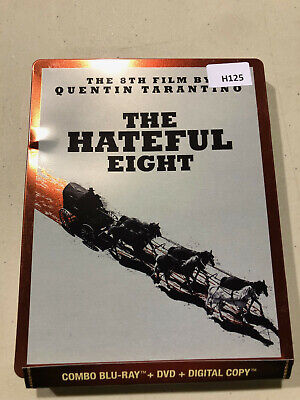 The Hateful Eight-  Steelbook  [Blu-ray+DVD] AS IS!! H125