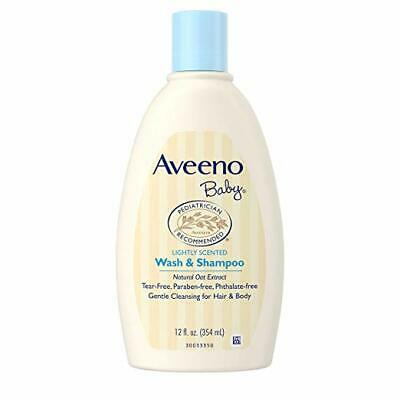 2 PACK Aveeno Baby Gentle Wash & Shampoo with Natural Oat Extract 12OZ