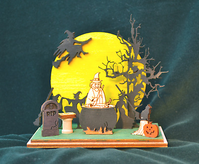 Ginger Cottages Ginger Boo! Witch's Convention Halloween Holiday Ornament Gb111