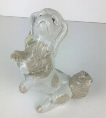 Vintage Small D'art Ceramic Dog On Hind Legs Stood Up Animal Figure