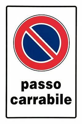 Cartello Passo Carrabile In Pvc 20X30