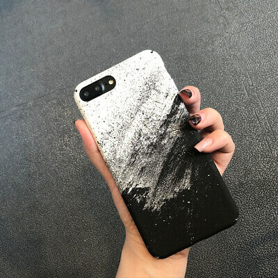 Abstract Ink Painting Hard Phone Cases For iphone X 6s 8 7 Plus Matte Back Cover