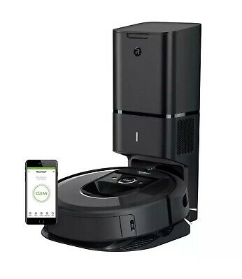 iRobot Roomba i7 PLUS + (7550) Wi-Fi Connected Robot Vacuum & Auto Dirt Disposal