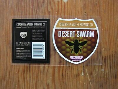 Coachella Valley Brewing Co. Bottle Label Sticker ~NEW Craft Beer Brewery Decal~