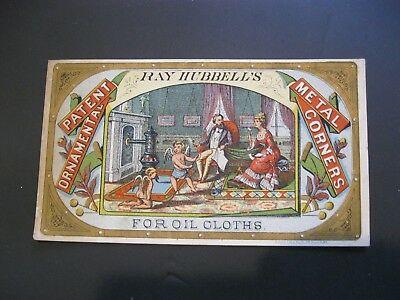 Victorian Trade Card C.H. Bacon Danielsonville CT Hubbells ANGEL Cherub Scrap 82