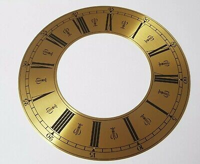 Clock Chapter/Hour Ring Spun Brass Roman Numerals Outside 182mm Inside 101mm