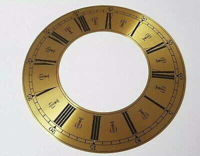 Clock Chapter/Hour Ring Spun Brass Roman Numerals Outside 204mm Inside 112mm