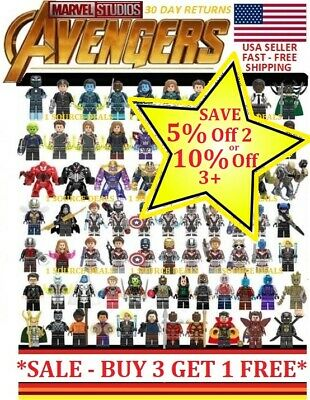 Marvel Building Blocks Avengers Infinity End Game Thor Iron Man Thanos 26 Styles