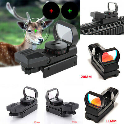 11/20MM Rail Red Dot Sight Reflex Holographic Scope Tactical Rifle Hunting Sight