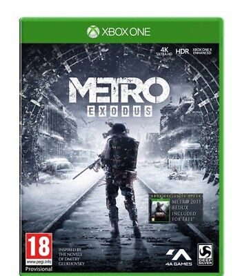 METRO EXODUS - 2019 Xbox One game, played once, immaculate condition