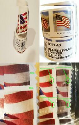 USPS Forever Stamps, Coil of 100 US Flag Postage Stamps (2016 or 2017 1 roll