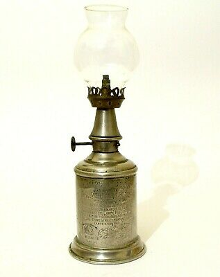 Pigeon Lamp | Vintners Lamp | Victorian Oil Lamp | A Good Early Example.
