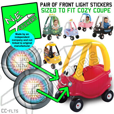 REPLACEMENT LIGHTS STICKERS x2 for BACK Little Tikes cozy