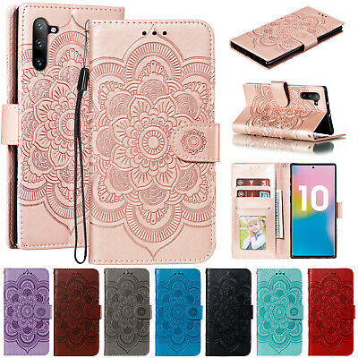 For Samsung S10e S9 Plus Note 9 A8 2018 Case Leather Wallet Flip Magnetic Cover