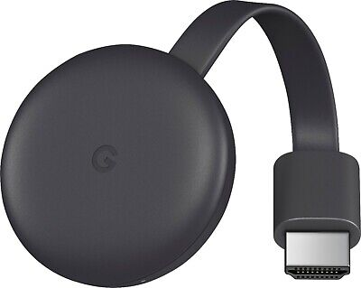 Google Chromecast (3rd Gen) Media Streamer - Charcoal, NEW,Sealed!!!