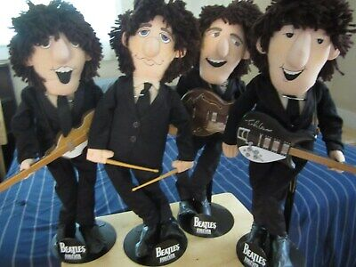 Beatle Applause Dolls Set Of Cloth Fab 4 With Instruments Life Like Near Mint-!!