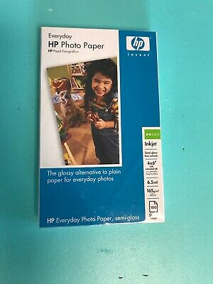 "HP Everyday Photo Paper Glossy 4X6"" x 100"