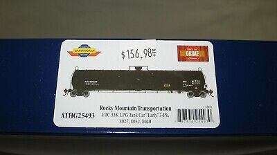 "Athearn Genesis HO UTC 33K Gallon LPG Tank Car ""Early"" ROCX 3-Pack ATHG25493"