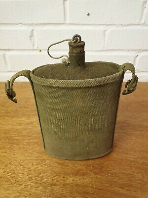 Vintage Military Water Canteen Flask WW1 WW2