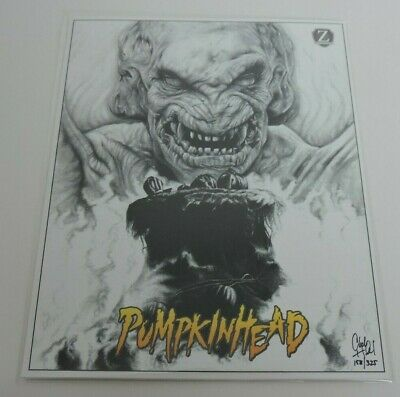 Zobie Fright Pack Pumpkin Head Print #/325 8x10 Artist Signed