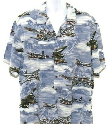 02f493aff8565e KALAHEO HAWAIIAN MENS World War II Fighter Bomber Airplanes Hawaiian ...