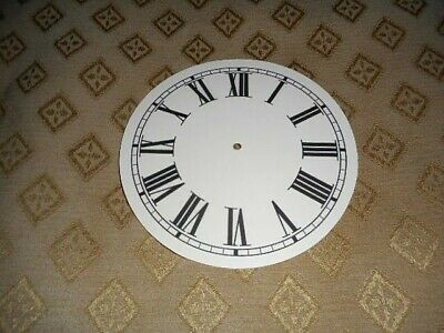 "Round Paper Clock Dial - 4"" M/T -  Roman - MATT CREAM -Face/Clock Parts/Spares"