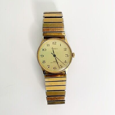 Vintage Timex Gold Tone Water Resistant Wind Up Watch
