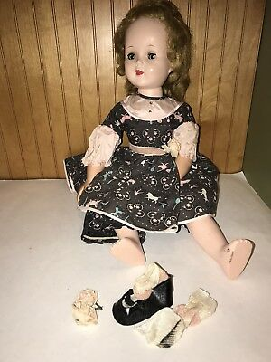 """Vintage AMERICAN CHARACTER DOLL 23"""" SWEET SUE Walker Hard Plastic doll Outfit"""