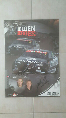 V8 Supercars 2008 Holden Heroes Signed Laminated Poster