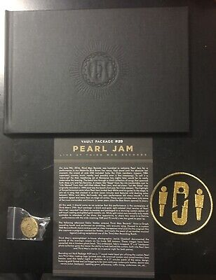 Pearl Jam 2016 Third Man Records Hardcover Photo Book, Pin & Patch Set