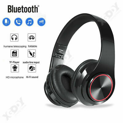 Wireless Headphones Stereo Bluetooth Headset Noise Cancelling Over Ear Mic A2DP