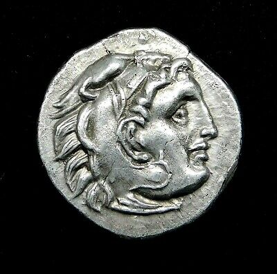 Alexander the Great (336-323 BC) Impressive Drachm. Ancient Greek Silver Coin.