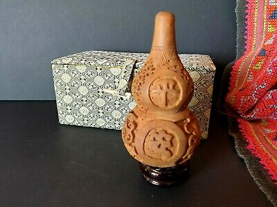 Old Chinese Good Luck Wood Carving on Stand in Presentation Box …beautiful gift