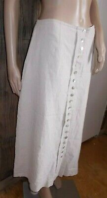 1c72a8e28 ORVIS Maxi SKIRT Womens 14 Beige Oatmeal Linen Pockets Linen tencel Button