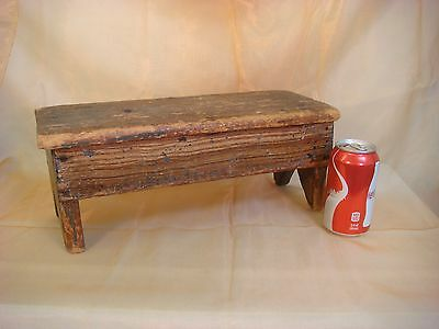 Wooden Stool Primitive John Marsh House Newbury Ct. Foot Milking Antique Wood