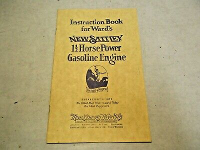 reprint Montgomery Ward New Safety 1 1/2 Gasoline Engine Instructions Booklet