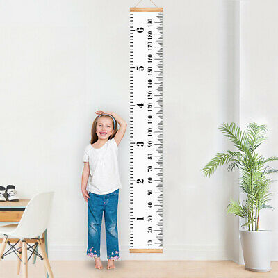 Baby Growth Chart Handing Ruler Wall Decor for Kids, Canvas Removable Height Gro
