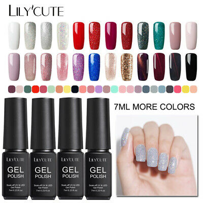 146Colors UV Gel Nail Art Polish Soak Off Colorful Gel Nails Tools LILYCUTE 7ml