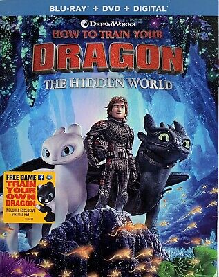 HOW TO TRAIN YOUR DRAGON ~THE HIDDEN WORLD ~ Blu-Ray + DVD + Digital *New