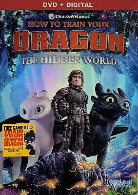 HOW TO TRAIN YOUR DRAGON ~ THE HIDDEN WORLD  <  DVD + Digital  >   *New *Sealed
