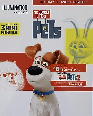 THE SECRET LIFE OF PETS ~ Blu-Ray + DVD + Digital *New *Factory Sealed