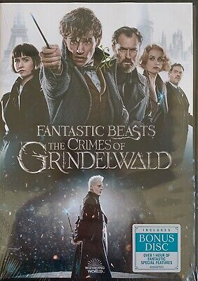 FANTASTIC BEASTS THE CRIMES OF GRINDELWALD   <   DVD   >   *New *Factory Sealed